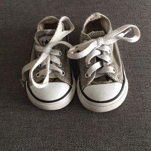 Used light gray converse
